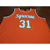 Rarecustom 121 # 31 Dwayne Pearl Washingtonn College Jersey Syrakuse Orange White College Basekteball Jersey