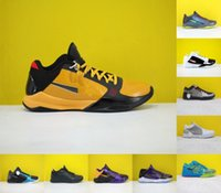 2021 Alta Qualidade Zk5 KB5 5S Bruce Lee Protro Sapatos de Basquete 5x Champ Lakers Roxo Amarelo Ouro 2K20 Chaos Mamba ZK 5 V Mens Sneakers