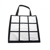 Sublimation Grid Tote Bag Blank White DIY Heat Transfer Sudo...