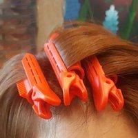 3 adet / grup Saç Bakım Silindirleri Doğal Kabarık Saç Klip Uyku Yok Isı Plastik Bigudi Büküm Saç Şekillendirici DIY Aracı