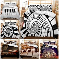 3D Print Bedding Set Piano Violin Musical Instrument Kids' friends' Gift Duvet Cover set Home Textiles.king queen twin full