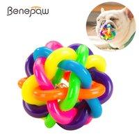 Benpaw Bunte Bell Glocke Hundekugel Nontoxic Bissbeständigkeit Haustier Kauen Spielzeug Zähne Reinigung Welpenspiel Spiel Für kleine große Hunde LJ201125