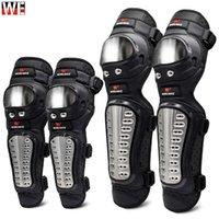 Wosawe 4 pçs / conjunto de aço inoxidável cotovelo joelho almofadas de motocicleta almofada armadura moto corrida protetor protetor de engrenagem kit1
