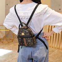 패션 새로운 아이 편지 인쇄 배낭 어린이 캐주얼 가방 여성 전화 가방 소녀 스트라이프 스트랩 핸드백 A5517