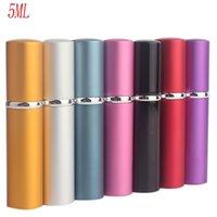 Vendita calda Mini 5ml portatile per viaggiare in alluminio per il profumo ricaricabile con contenitori cosmetici spraypianti con atomizzatore