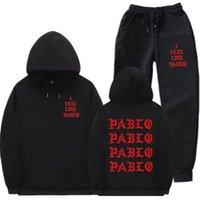 Kanye mi sento come i pantaloni sanitari Pablo set con cappuccio autunno autunno sport
