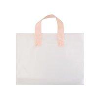 투명 한 비닐 봉지 플라스틱 옷 가방 인쇄 선물 주머니 의류 상점 패킷 쇼핑백 핸들