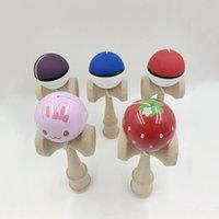18x6x7cm мультфильм шаблон кендама мяч деревянные игрушки умелые жонглирование игры мяч досуг спортивные игрушки pu краска взрослых детей игрушки y200428