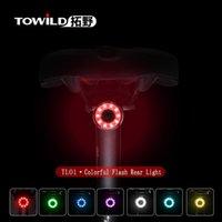 أضواء الدراجات TL01 دراجة خفيفة USB شحن ركوب السلامة ليلة تحذير الملحقات الجبلية الطريق