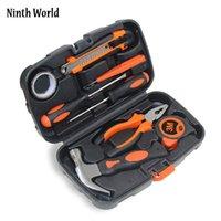 Professionele handgereedschap sets 9 stks set algemene huishoudelijke kit multifunctionele hardware reparatie box met schroevendoos messen hamer draad tang