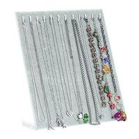 17 крючков бархатные ювелирные изделия органайзер держатель для хранения доска браслет ожерелье подвесной дисплей стойки стойки ювелирные изделия чехол новый