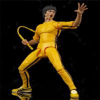 Bruce Lee Way of the Dragon Fist de Fury Yip Man Mouvement Joint Mouvement Anime Action Figure PVC Collection Jouets 15cm