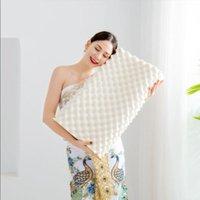 Подушка кровать Эргономичная мягкая шейная шейная защита от шеи массаж ортопедия натуральный латекс