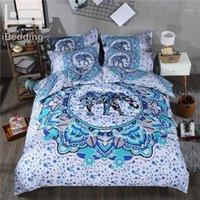 3 шт. / Установить богемные мандала слон 3D постельное белье наборы напечатанные одеяльные крышки набор двойных полной королевы королевской кроватью размера