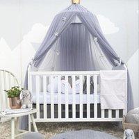 سرير المعاوضة الطفل البعوض صافي السرير الستار ستارة حول قبة شنقا خيمة للأطفال غرفة الديكور profs1