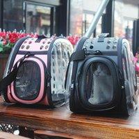 Portadores de gatos, Cajeras Casas Bolsa de viaje para mascotas Paquete transparente Mochilas Gatos Aparte de EVA Bolsas transpirables Portador de perros