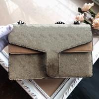 Bolsas de Camurça de Alta Qualidade Corrente Vintage Bag Ombro Sacos Fashion Forma Estilo Clássico Senhora Bolsa