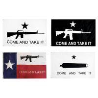 Komm und nimm es Fahne Freies Verschiffen Direkte Fabrik hängen 90 * 150 cm 3x5 ft Großhandel Gonzales Banner Texas Flagge USA Banner Flagge