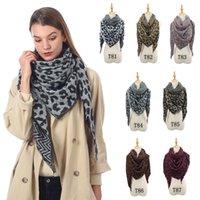 Осень зима 2020 имитация кашемировый женский треугольник шарф классический леопард печатает теплый шаль