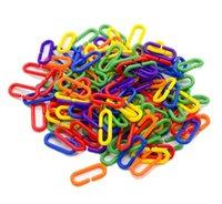 الطيور ن ناو لعبة الببغاء متعدد الألوان نوع c اللون البلاستيك سلسلة ربط الطيور اللعب حزمة من 100 قطع نمط 6 5jx j2