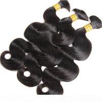 Human Treiding Hair Bulk No Weft Body Body Wave Bulk Capelli per intrecciare i capelli Remy 3pcs Lotto