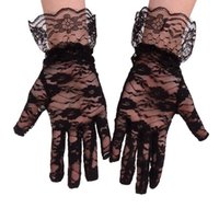 خمسة أصابع قفازات 1 زوج المرأة الزفاف مساء الزفاف حزب حفلة موسيقية القيادة زي الدانتيل
