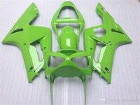 Injectie Mold Fairing Kit voor Kawasaki Ninja ZX 6R 600CC 03 04 ZX6R 636 2003 2004 Custom Green Backings Set ZX61
