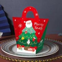 Scatola regalo di Natale Eve Babbo Natale Papercard Presente Partito Partito Favore Attività Box Red Capodanno Pacchetto Scatole del pacchetto HHE2898