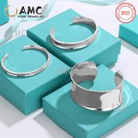 AMC Bracelet Bracelet Sliver 925 Keychains Bracelet Classic Couple Simple Couple Réglable Bracelétholiday Cadeau en gros