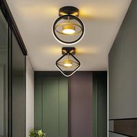 Nouveau Couleur de plafonnier LED moderne Couleur de plafonnier pour chambre à coucher Salle à manger Cuisine Alle de petit plafond intérieur Lampe à domicile