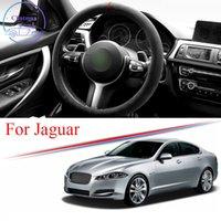 Alcantara автомобиль рулевая крышка замшевой отделкой накладки для Jaguar E-PACE F-PACE S-TYPE XE XF XJ Universal 38см 15 дюймов интерьерные аксессуары