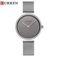 Curren novas mulheres assistem vestido de moda senhoras relógios de aço inoxidável relógio de relógio de quartzo venda quente saat relógio relogios feminino1