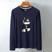 Luo ka мужской хлопок с длинным рукавом напечатанный дизайн один размер футболка с длинным рукавом Модель: KL-52.99 201116