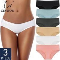 Cinúnculo 3 pcsset mulheres calcinhas de algodão cueca cor sólida briefs meninas low-rise suave calcinha mulheres cuecas mulheres lingerie