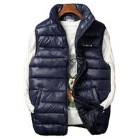 Winter Men's Sleeveless Jacket Big Sizes Black Vest Autumn Casual Warm Thick Coats Male Cotton-Padded Work Men Waistcoat Vest