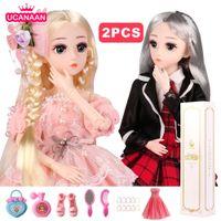 (Acquista 1 Get 1 gratis) BJD Doll, 1/4 SD Dolls 18 Ball Bambole snottate con vestiti vestiti scarpe Scarpe parrucche per capelli trucco Miglior regalo per ragazze 201021