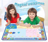 Coolplay 100x100 cm Sihirli Su Çizim Mat Doodle Paspaslar 4 Çizimler Kalemler 1 Pullar Set Boyama Kurulu Eğitici Oyuncaklar Çocuklar için