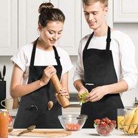 Grembiuli 2pcs Grembiule regolabile Bib Impermeabile con 2 tasche Cucina Cucina per BBQ Drawing Donne Uomo uomo Chef Cameriere