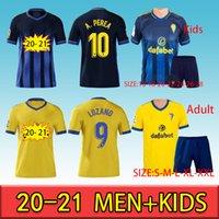 2020 Cádiz Fútbol Jerseys Cádiz CF Camisetas de Fútbol 20 21 Lozano Alex Bodiger Juan Cala Camiseta A Liga Hombres + Camisas de Fútbol para niños