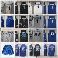Rétro Baskeball 1 Penny Tracy Hardaway Jersey McGrady Jersey cousu Shaquille 32 Jersey Oneal Blue Black Blanc Homme Blanc Kids Youth