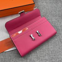 Mode Marken Geldbörsen Hohe Qulaity Männer Frauen Brieftasche Designer Geldbörse Gold Silber Hardware Big Space Card Zipptaschen Brieftaschen mit Kasten