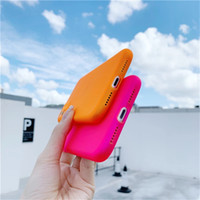 New Fluorescent Color Clear Shockproof Phone Case For iPhone...