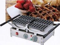Ekmek Makineleri Ticari En Kaliteli 4 Adet Meydanı Waffle Maker Belçika Makinesi