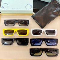 2021 Nova Moda Clássica Retangular 40008U Óculos 8.0mm Placa de Policarbonato Quadro Notched Frame Óculos de sol para homens e mulheres óculos de sol brancos