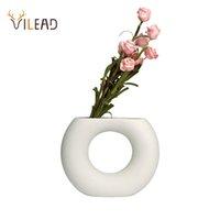 Vilead nordique céramique vase blanc bouteille décorative fleurs séchées fleurs créatives vase de fleur créatif ornements pour accessoires de décoracion à domicile 201125