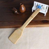Cucchiaio da zuppa di bambù naturale 6 Stili Colore di legno Cucina Spatola Non bastone da cucina Pale da cucina Utensili Best Selling 1 3ZL E19