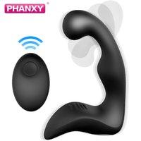Phanxy controle remoto macho massageador de próstata vibrador para homens silicone butt plug Sextoy para gay iniciantes cauda anal plug sexo brinquedo y201118