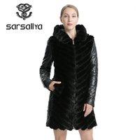 Sarmallya doğal vizon ceket ceket kadının kış ceketler ayrılabilir deri gerçek kürk kadın giyim palto kadın1