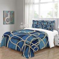 Bettwäsche-Sets Bunte Geometrie Splicing-Muster Set Queen-Size-Bettdecken-Bettdecken-Bettdeckenbett Bettwäsche-Quilt mehrerer