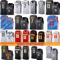 13 Harden 7 Kevin Kyrie TRAE 11 Молодые Ирвинг Джунс Баскетбол Джерси 2021 Нью-Джерси